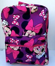 """Disney* Minnie Mouse 16"""" Large Old School Backpack -A04692-Purple"""