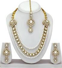 Indische Bollywood Mode Hochzeit Gold überzogene Halskette Set Brautschmuck 2070