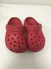 Kids Size 8 Red Crocs Holiday Summer Spring Shoes