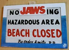 Trick or Treat Studios Jaws No Swimming Beach Closed Wooden Sign Replica Movie
