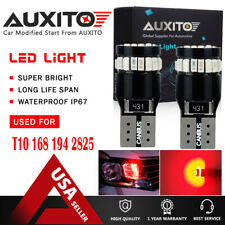 2X AUXITO 194 168 W5W T10 Red Wedge Marker Interior License LED Light Bulb 24H A