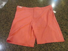 IZOD Perform Men 42 W Golf Flat-Front Cotton Shorts Rapture Rose Pink Men's NWT