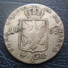 1805 Alemania, Estados Alemanes-Prusia De Plata 4 Groschen, Friedrich III