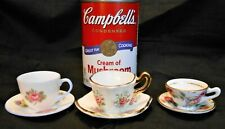 """Shelley Mini Toy Cup Saucer: """"Rose, Pansy, Forget-Me-Not"""" + Sandford & Rosina"""