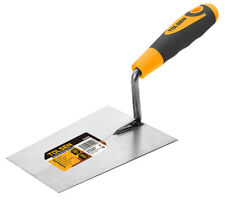 Bucket Trowel Bricklaying Plastering Tempered Steel Square Edge Blade 180mm 7""