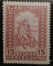 BOSNIA HERZEGOVINA STAMPS MLH - Charity Stamps - Colored Numerals - 1918, *