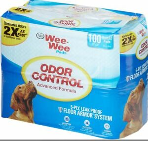 Four Paws Wee Wee Pads Odor Control 100% Leak Proof 100 Quilted pads