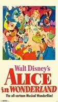 ALICE IN WONDERLAND - CLASSIC DISNEY MOVIE POSTER 24x36 - 14778