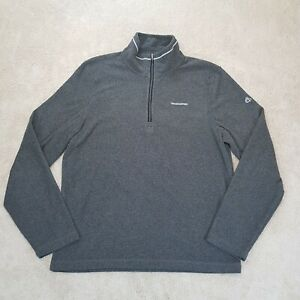 Craghoppers Sweater Adult Small Grey Spell Out Logo Jumper Camping 1/4 Zip Mens