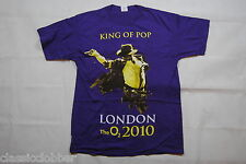 MICHAEL JACKSON KING OF POP LONDON THE O2 2010 PURPLE T SHIRT NEW OFFICIAL RARE