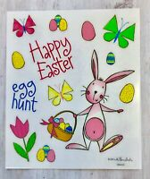 2 Sheets Happy Easter Bunny Planner Stickers Papercraft Envelope Seals  Craft