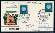 82803) LH FF Frankfurt - Amsterdam 24.6.65, SoU LP-DS MeF 15PF Mi 441