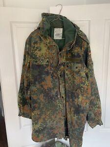 Flecktarn Camo German Army Military Jacket With Hood Great Condition