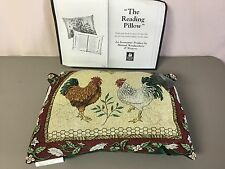 """USA Made NWT Le Roost 17.5"""" x 12.5"""" Tapestry The Reading Pillow #384"""