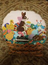 Vintage Easter Basket Needle Point