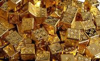 ROMAN DICE, 24K GOLD PLATE
