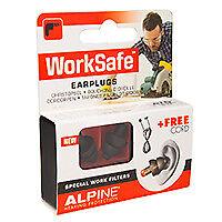 Alpine Worksafe Ohrenstöpsel / Gehörschutz / Lärmschutz, 1 Paar