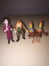 Chicken Run Lot Of 4 Figures Pvc toys cake toppers pre owned Rare