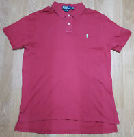 Ralph Lauren Polo T Shirt Tee Top Short Sleeves Custom Fit Red Size XL