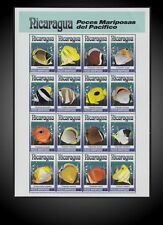 1993 NICARAGUA BUTTERFLY FISH - EXOTIC FISH FROM PACIFIC MI. 3196 -3211 ST.1962a