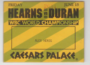 THOMAS HEARNS VS ROBERTO DURAN RARE 1984 WBC CHAMPIONSHIP BOXING CREDENTIAL PASS