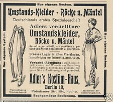 Umstandskleid Adler Reklame von 1914 Umstandskleider schwanger Umstandsrock ad