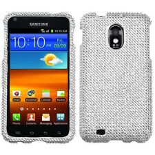 For US Cellular Samsung Galaxy S II 2 Diamond BLING Hard Case Phone Cover Silver