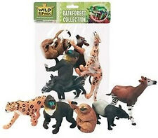 *NEW* Toy Rainforest Animal Model Figurines - 5 Piece Polybag 53529 Collection