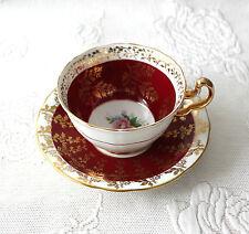 Adderley Cup and Aynsley Saucer Porcelain Tea Set Floral Gilded England