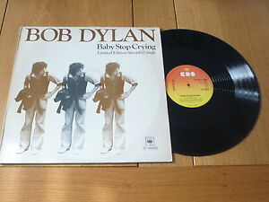 "BOB DYLAN - Baby Stop Crying - 1978 UK CBS 12"" Single"