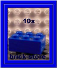 Lego 10x blaue  2x3 GRUNDBAUSTEINE  BASICSTEINE