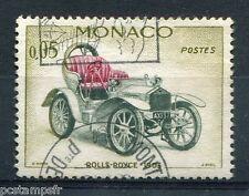 MONACO 1961, timbre 561, AUTOMOBILES, ROLLS-ROYCE, oblitéré