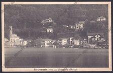 VARESE PORTO CERESIO 18 RISTORANTE ADELAIDE Cartolina viaggiata 1933