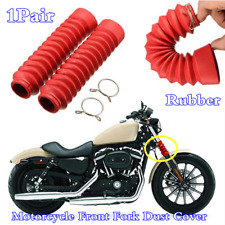 Red Rubber Front Fork Motorcycle Dust Cover Gaiters Gaitors Boots Shock Absorber