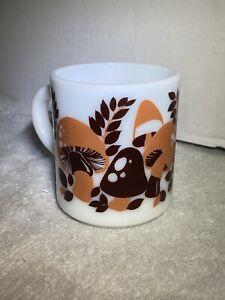 Vintage Brown And Orange 70's Mushroom Mug