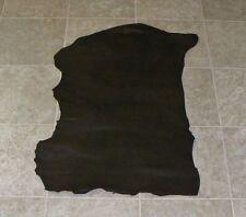 (UWE7031-1) Hide of Green Brown Embossed Lambskin Leather Hide Skin