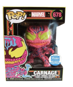 Funko Pop! Marvel Black Light Carnage #678 Funko Shop Exclusive