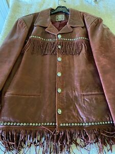 Double D Ranchwear Leather Jacket with Fringe