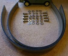 Land Rover Series 2a 3 SWB 88 Canvas Axle Check Strap & Stainless Bolts Set x2