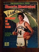 Paul Westphal HOF hand signed Sonics 10/20/80 Sports Illustrated magazine COA