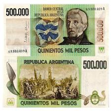 "ND (1980-83) * Banconota Argentina 500.000 Pesos ""J de San Martin"" (p309) FDS"