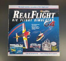 Real Flight R/C Simulator G4 Interlink Elite Controller 4 Disc Set Included