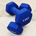 Dumbbells 1kg to 10kg Neoprene Weights Pair For Home Gym Yoga Fitness Exercise