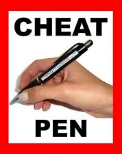 CHEAT PEN FOR EXAMS . STUDENT CHEATING NOTE PEN - SEE VIDEO !
