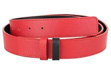 "Reversible Red Leather Belt Pebble Mens Black belts ferragamo buckle 1.3"" sz 36"