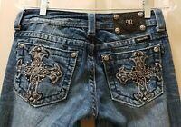 """Miss Me Skinny Denim Jeans. Size 27X32 Rise 7.5 """" Waist Flat 15=30X32"""