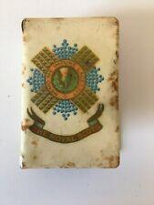 More details for enamelled match box cover - the royal scots regiment