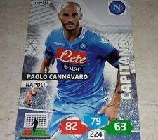 CARD ADRENALYN 2013/14 CALCIATORI PANINI NAPOLI CANNAVARO CALCIO FOOTBALL