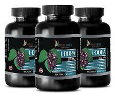 L-DOPA 99% Extract Powder 350mg Mucuna Pruriens Seeds Kapikachhu 180 Pills 3 Bot