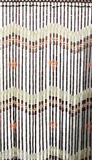 Perlenvorhang Hanoi 100 x 200 cm mit 37 Holzperlen/Bambusröhrchen Tür Vorhang